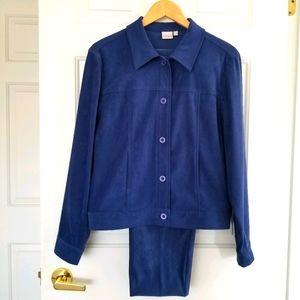 Vintage Cleo Navy Blue Suit Size 8/10